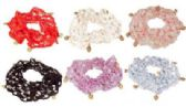 72 Units of Assorted color crochet look hair scrunchie - Hair Scrunchies