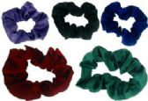 72 Units of Assorted color hair scrunchies
