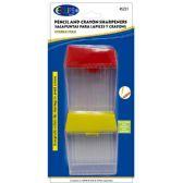 48 Units of Pencil/Crayon Sharpener - 2 pack - Sharpeners