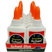 48 Units of Washable School Glue, 1.25 Oz. - Glue Office and School