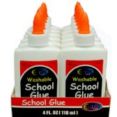 48 Units of Washable School Glue, 4 Oz. - Glue Office and School