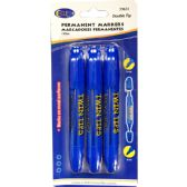 48 Units of Permanent markers, double tip: chisel & bullet, 3 pk., blue ink - Markers and Highlighters