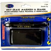 24 Units of Dry Erase Markers Twin Tips / Eraser - Markers and Highlighters