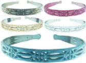 72 Units of Assorted color frosted look acrylic headbands