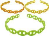 72 Units of Assorted citrus colored acrylic headbands