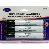 48 Units of Whiteboard markers, chisel tip, 3 pk., black ink - Markers and Highlighters
