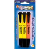 48 Units of HighLighters, 3 Pk. - Markers and Highlighters