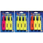 48 Units of Fluorecent Highlighters, 3 Pk. - Markers and Highlighters