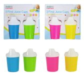 96 Units of 2 PC First Juice Cups In Hanging Sleeves - Baby Accessories