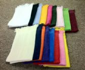 72 Units of Standard Quality Fingertips - Fringed Ends Towels 11 x 18 Royal Blue