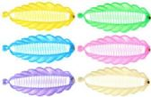 72 Units of Assorted pastel colored acrylic hair combs - Hair Combs