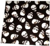 72 Units of Black bandana with skulls