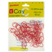 72 Units of Assorted color mini rubber bands