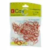 72 Units of Red and white mini rubber bands - Rubber Bands