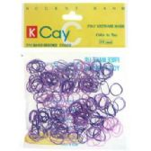 72 Units of Assorted colored mini rubber bands