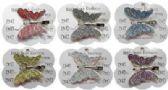 120 Units of Silver-tone alligator clip, with silver-tone glitter