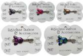 120 Units of Silver-tone alligator clip with assorted multi-color epoxy bees