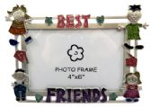 "10 Units of Picture frame that say ""best"" along the top and ""friends"" along the bottom and a child on each corner of the frame"