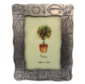 6 Units of Picture frame with images of things that resemble summer and outdoors for example flowers, the sun, a bike, etc.