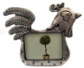 10 Units of Rooster shaped pewter picture frame