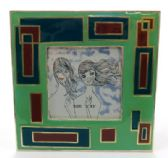 10 Units of Square picture frame with blue and purple rectangles