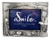 6 Units of Pewter picture frame with assorted fishing accessories spread around the frame