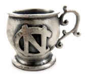16 Units of Small mug made of pewter with the University of North Carolina symbol - Gifts Items