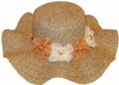 60 Units of Ladies' Wavy Hat w. Flower