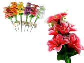 144 Units of 9 Head Artificial Flower Bouquet
