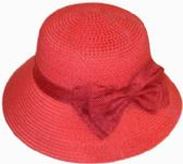 30 Units of Ladies' Bucket Hat w. Bow - Bucket Hats