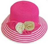 30 Units of Ladies' 2 Tone Bucket Hat w. Flower - Bucket Hats