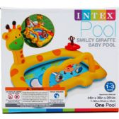 6 Units of SMILEY GIRAFFE BABY POOL, AGE 1-3, IN COLOR BOX