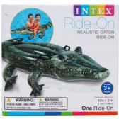 6 Units of REALISTIC GATOR RIDE ON W/ HANDLES IN COLOR BOX - Inflatables