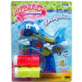 "36 Units of 7"" B/O DOLPHIN BUBBLE GUN W/ SOUND&LIGHT ON CARD, 2 ASST"