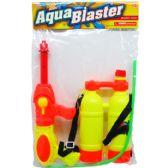 """12 Units of 14"""" WATER W/GUN ACTION & 2-TANK IN POLY BAG W/HEADER, ASST - Water Guns"""