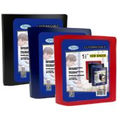 "24 Units of 1.5"" View binder, with pocket divider, black, blue, red - Clipboards and Binders"