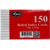 96 Units of Index cards, 3X5,150 pk, white, ruled - Labels ,Cards and Index Cards