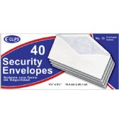 48 Units of Security Envelopes, # 10, 40 Ct. - Envelopes