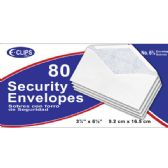 48 Units of Security Envelopes, #6, 80 Ct. - Envelopes
