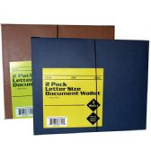 48 Units of Document Wallet, Letter Size, 2 pk. Ligh Blue & Brown