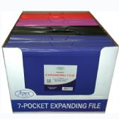 16 Units of Expanding File, Letter Size, Clearline, 7 Pockets, Blue, Red, Purple, Black