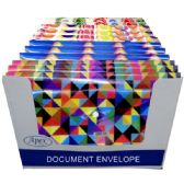 48 Units of Poly Document Envelope, Assorted Designs