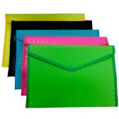 "48 Units of Document Snap Holder - 12"" x 10"" - Assorted Colors - Folders and Report Covers"