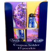 48 Units of 13 Pocket Coupon File - Assorted Designs - Folders and Report Covers