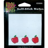 36 Units of APPLE Self Stick Notepad 3x5 50 sheets - Sticky Note/Notepads