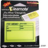 "36 Units of Self Stick Clear Note - Fax memo 2"" x3"" - Sticky Note/Notepads"
