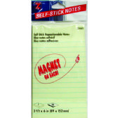 "36 Units of NotePad Magnetic Self Stick Pad 3 1/2"" x 6"" 50shts - Sticky Note & Notepads"