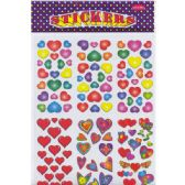 72 Units of Stickers, Hearts Designs
