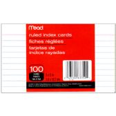 72 Units of MEAD Index Cards ruled 3x5 100ct. - Labels ,Cards and Index Cards