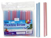 96 Units of 50 Pc Jumbo Flexible Straws